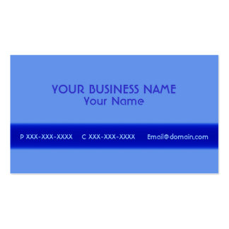 Simple blue all front custom business cards