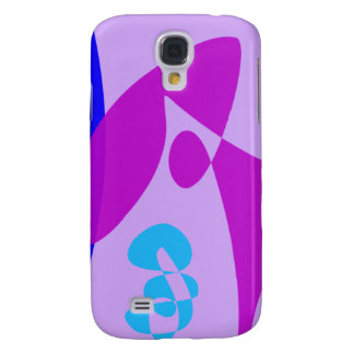 Simple Blue and Purple Abstract Art Galaxy S4 Cases