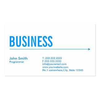 Simple Blue Arrow Programmer Business Card
