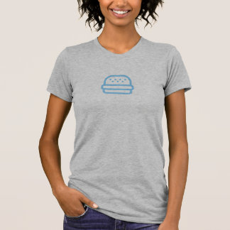 Simple Blue Burger Icon Shirt