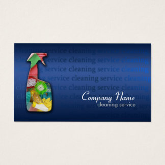 Simple Blue Cleaning Service Business Card