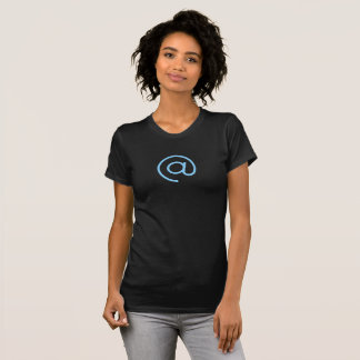 Simple Blue Email @ Symbol Icon Shirt