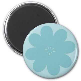 Simple Blue Flower 6 Cm Round Magnet