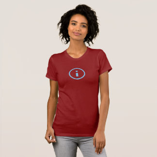 Simple Blue Info Icon Shirt