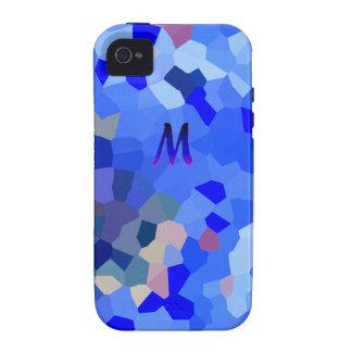 Simple Blue Monogram iPhone 4 cover