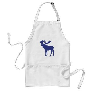 Simple blue moose symbol standard apron