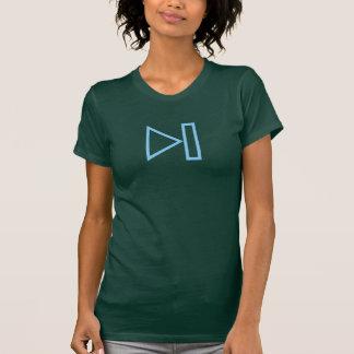 Simple Blue Next Button Icon Shirt