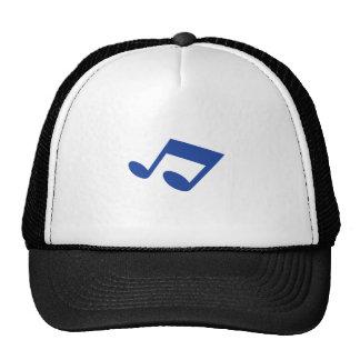 Simple blue note trucker hat