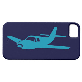 Simple blue on blue airplane iphone 5 case