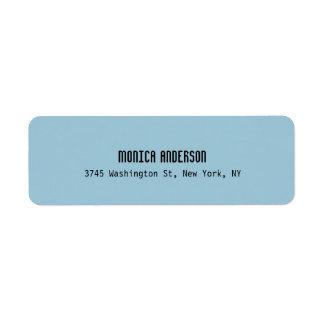 Simple Blue Professional Contemporary Return Address Label