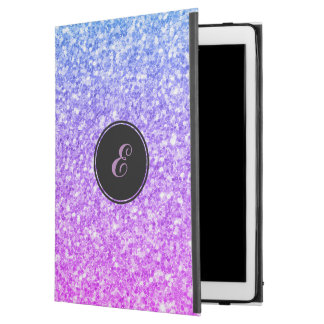 Simple Blue & Purple Glitter Monogram
