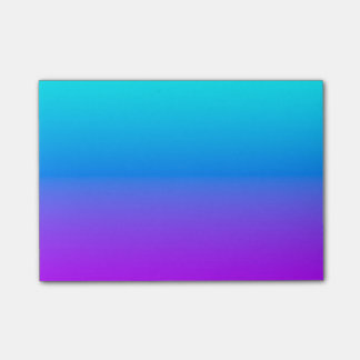 Simple Blue To Purple Post-it Notes