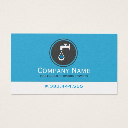 Simple Blue White & Grey Plumbing Services Business