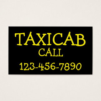 Simple Bold Taxi Business Card
