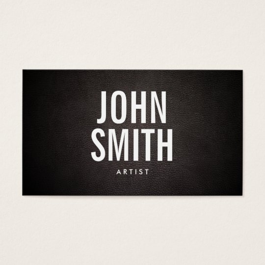 Simple Bold Text Artist Business Card