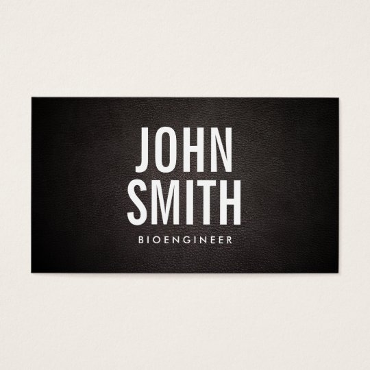 Simple Bold Text Bioengineer Business Card