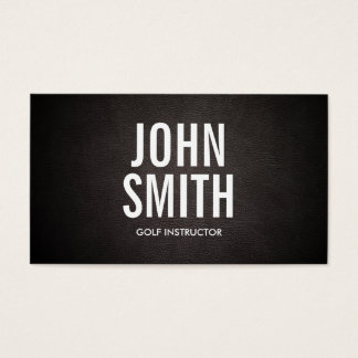 Simple Bold Text Golf Business Card