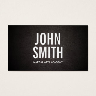 Simple Bold Text Martial Arts Business Card