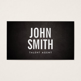 Simple Bold Text Talent Agent Business Card