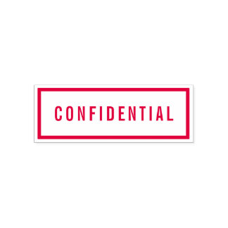 Simple Border Bold Red Confidential Self-inking Stamp