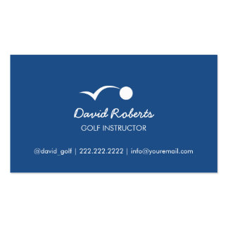 Simple Bouncing Golf Ball Navy Blue Golf Pack Of Standard Business Cards
