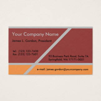 Simple Brick Orange and Gray Business Card
