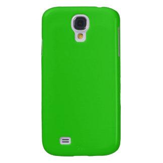 simple bright green color galaxy s4 cover
