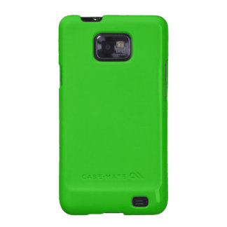 simple bright green color samsung galaxy SII cases