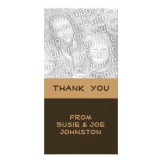 simple brown biege card