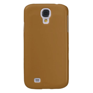 simple brown color galaxy s4 covers