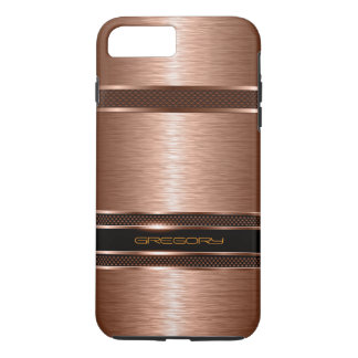 Simple Brown Copper Tones Metallic Look iPhone 7 Plus Case