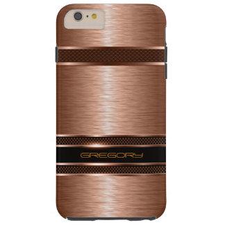 Simple Brown Copper Tones Metallic Look Tough iPhone 6 Plus Case
