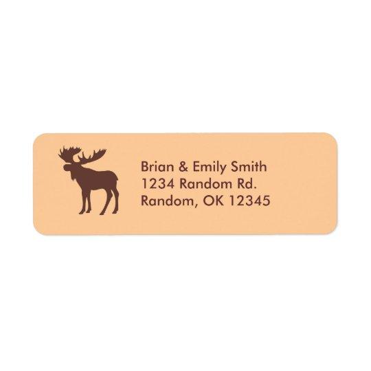 Simple brown moose return address labels