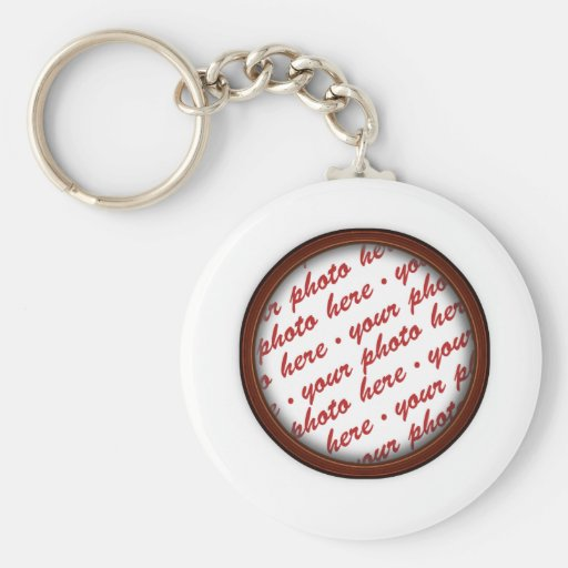 Simple Brown  Photo Frame Key Chains