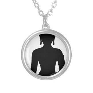 Simple Buddha Silver Plated Necklace