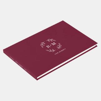 Simple Burgundy Wedding Guestbook