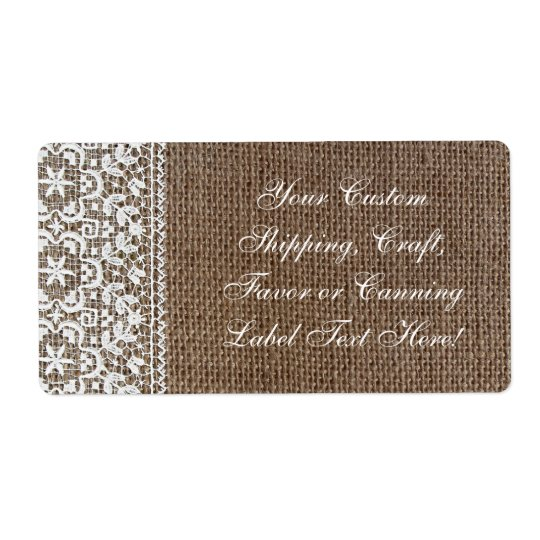 Simple Burlap and Lace