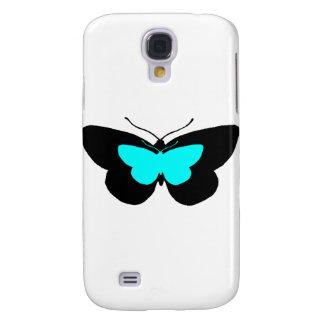 Simple Butterflies in Black & Baby Blue Galaxy S4 Case