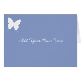 Simple Butterfly Blue Custom Wedding Card
