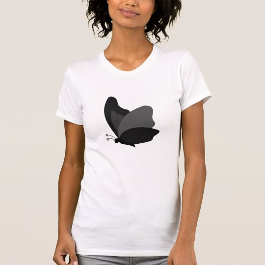 Simple Butterfly - Grey & Black T-Shirt