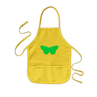 Simple Butterfly in Light Baby Blue Kids Apron
