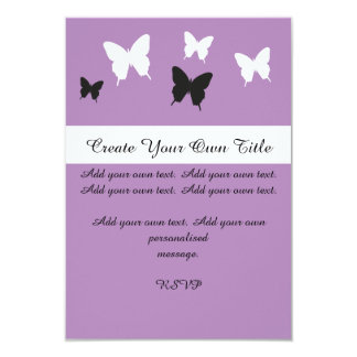 Simple Butterfly Purple Pink Wedding Invite