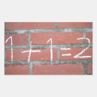 Simple calculation, passed school sticker