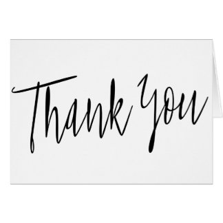 "Simple Calligraphy ""Thank you"" Card"
