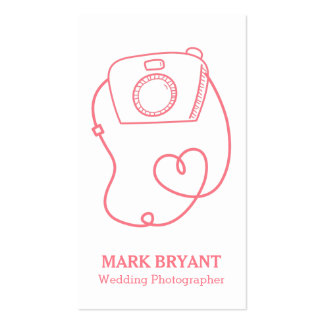 Simple Camera Doodle, Fun Wedding Photographer Pack Of Standard Business Cards