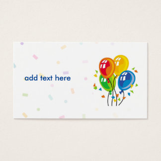 simple card with clipart of balloons