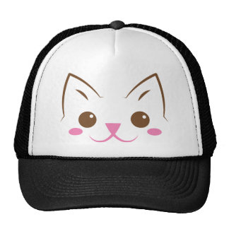 Simple cat face so cute! cap