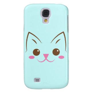 Simple cat face so cute! galaxy s4 covers
