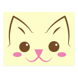 Simple cat face so cute! postcard