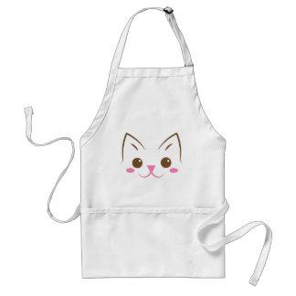 Simple cat face so cute! standard apron